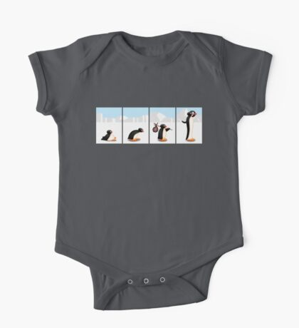 The penguin evolution One Piece - Short Sleeve
