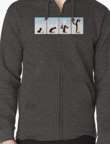 The penguin evolution Zipped Hoodie