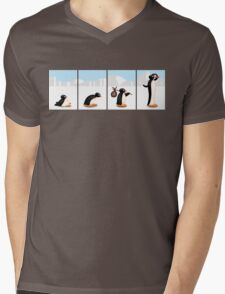 The penguin evolution Mens V-Neck T-Shirt