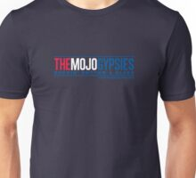 Navy T-Shirt with Red, White and Blue Mojo Gypsies logo Unisex T-Shirt