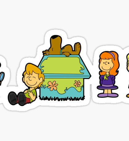 Shaggy Brown and The Scooby Crew  Sticker