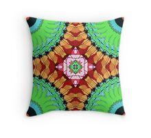 Quarter Circles Abstract Throw Pillow
