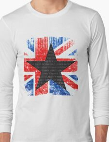 David Bowie Black Star Space Oddity Long Sleeve T-Shirt