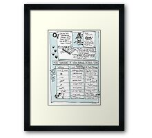 Questionable Answers - Where Do Editorial Marks Come From? Framed Print