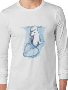A beluga whale in Love Long Sleeve T-Shirt