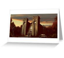 Sunset Hunt Greeting Card