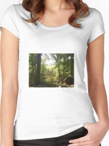 field through the trees Women's Fitted Scoop T-Shirt