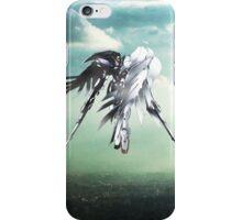 Gundam Wing above the city  iPhone Case/Skin