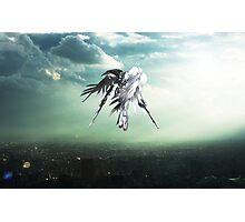 Gundam Wing above the city  Photographic Print