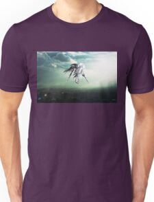 Gundam Wing above the city  Unisex T-Shirt