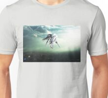 Gundam Wing above the city  Unisex T-Shirt