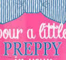 Preppy Dixie Cup  Sticker