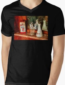 Barber - On a barbers counter  Mens V-Neck T-Shirt