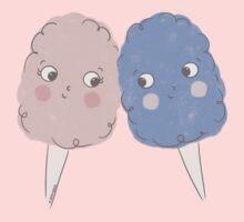 Cute Cotton Candy - Rose Quartz & Serenity One Piece - Short Sleeve