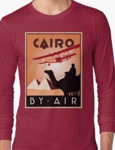 Cairo by air retro vintage travel Long Sleeve T-Shirt