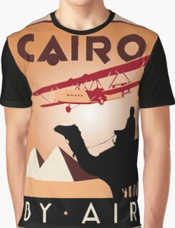 Cairo by air retro vintage travel Graphic T-Shirt