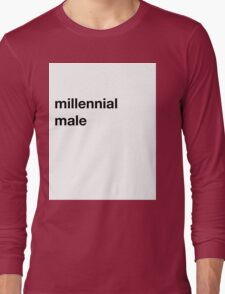 Pitchfork Millennial Male Joke Shirt Long Sleeve T-Shirt