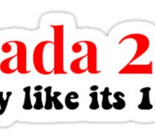 FunGirl Apparel - Canada 2017 - 150 Years - Party Time! Sticker