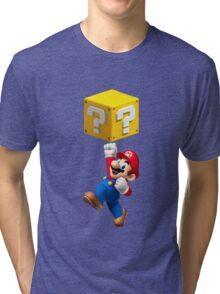 Mario Jumping Tri-blend T-Shirt