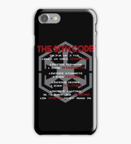 The Sith Code  iPhone Case/Skin