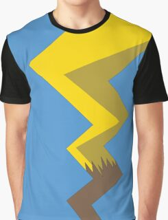 Minimalist Pikachu Tail Graphic T-Shirt