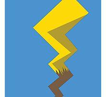 Minimalist Pikachu Tail Photographic Print