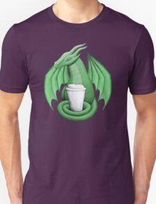 Green Dragon with Latte (purple eye) Unisex T-Shirt