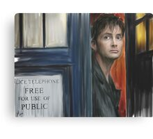 The Tenth Doctor Canvas Print