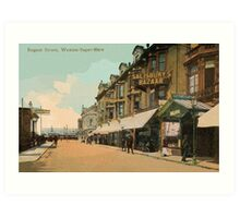 1890s Weston-Super-Mare Regent Street Art Print