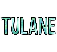 Tulane GreenBlue Tie Dye Photographic Print