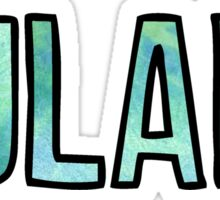 Tulane GreenBlue Tie Dye Sticker