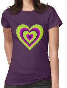Expanding Heart Womens Fitted T-Shirt