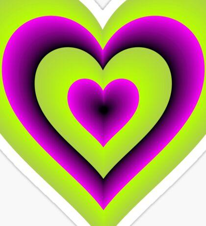 Expanding Heart Sticker