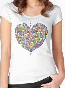 Swirlies in colour Women's Fitted Scoop T-Shirt