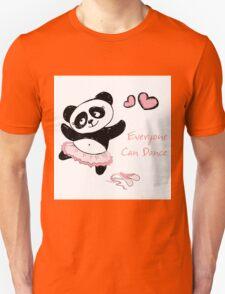Panda Girl ballet dancer hand drawn Unisex T-Shirt