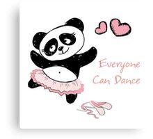 Panda Girl ballet dancer hand drawn Canvas Print
