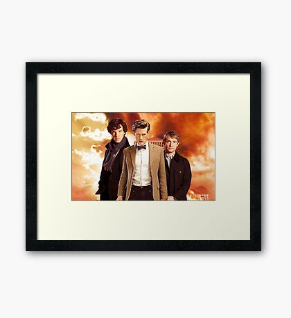 WhoLock Group Framed Print