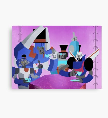 Transformers tea time Canvas Print