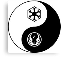 Ying and Yang, The Republic and the Empire Canvas Print