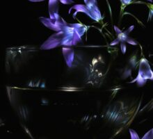 Bluebells - lightpainted still life Sticker