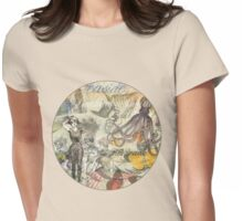 Vintage Octopus and Bathing Beauties Collage Beautiful Womens Fitted T-Shirt