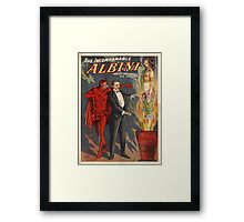 The Incomparable Albini Magician Poster Framed Print