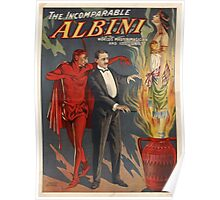 The Incomparable Albini Magician Poster Poster