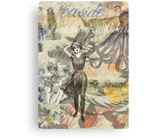 Vintage Octopus and Bathing Beauties Collage Beautiful Canvas Print