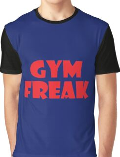 Gym Freak (Red) Graphic T-Shirt