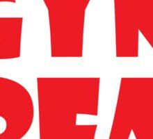 Gym Freak (Red) Sticker