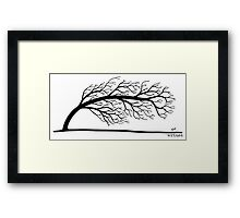 Windblown Tree Framed Print