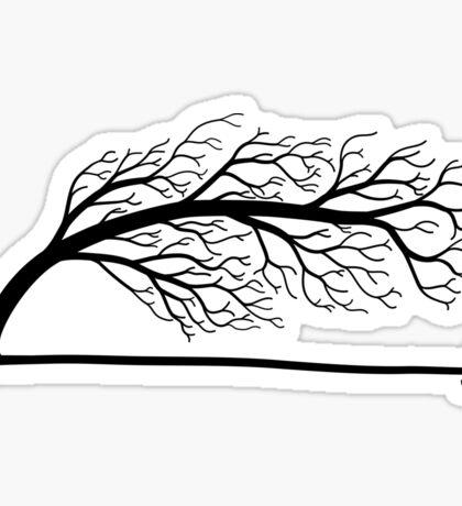 Windblown Tree Sticker