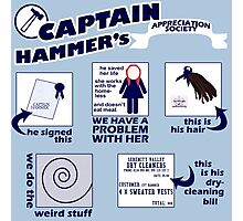 Captain Hammer's Appreciation Society Photographic Print