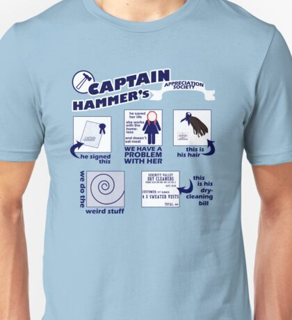 Captain Hammer's Appreciation Society Unisex T-Shirt